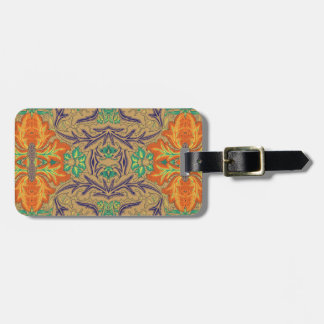 Orange Bloom Novo Morris Collection Tags For Luggage