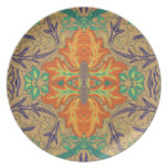 Orange Bloom : Novo Morris Collection Party Plates