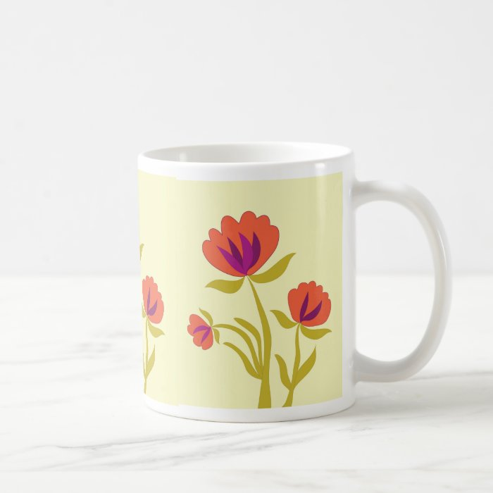 Orange blooms coffee mug