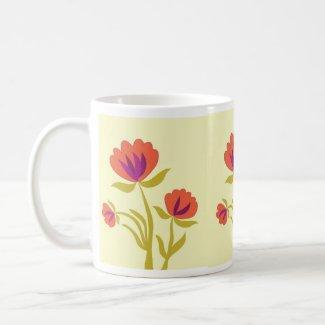 Orange blooms mug
