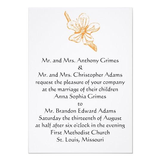 Orange Blossom 5x7 Invitation