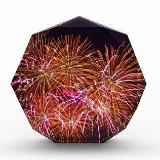 Orange Blossom Bursts - Sydney Harbour Fireworks Acrylic Award
