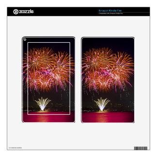 Orange Blossom Bursts - Sydney Harbour Fireworks Kindle Fire Skin