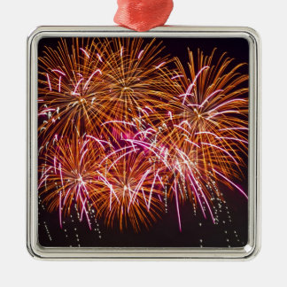 Orange Blossom Bursts - Sydney Harbour Fireworks Metal Ornament