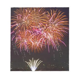 Orange Blossom Bursts - Sydney Harbour Fireworks Note Pad