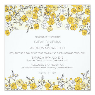Orange Blossom floral Invitation Card