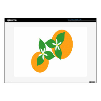Orange Blossom Laptop Decal