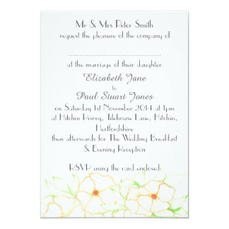 Orange Blossom Wedding Invitation