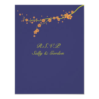 Orange Blossom Wedding RSVP Card