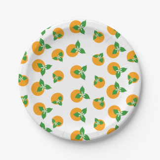 Orange Blossoms 7 Inch Paper Plate