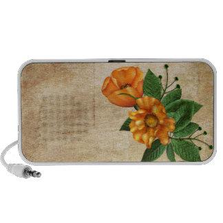 Orange Blossoms Floral iPod Speakers