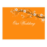 Orange blossoms save the date postcards