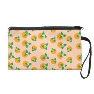 Orange Blossoms Wristlet