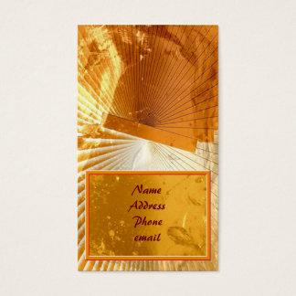 Orange Blown Glass Business Card