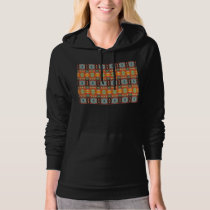 Orange Blue And Brown Pattern Hoodie