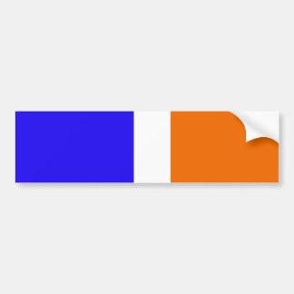 Orange Blue and White Stripe Pattern Bumper Stickers