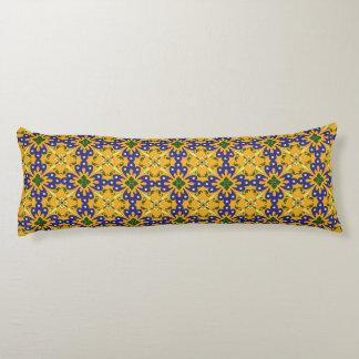 Orange Blue And Yellow Spanish Tile Design Body Pillow