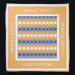 """Orange Blue Argyle Kitty Pet Bandana<br><div class=""""desc"""">This cute and stylish bandana,  featuring soft orange and blue colors,  is perfect for your favorite feline in the family. It also makes a nice gift for someone&#39;s pet.</div>"""