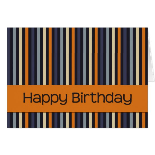 Orange & Blue • Birthday Card
