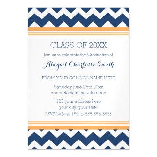 Orange And Blue Graduation Invitations Announcements Zazzle