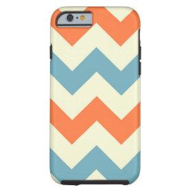 Orange blue chevron zigzag geometric zag pattern tough iPhone 6 case