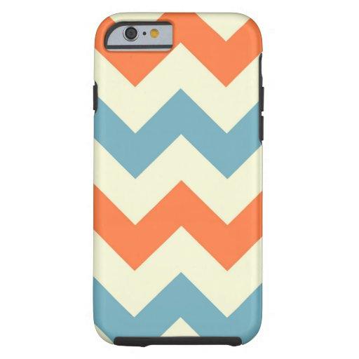 Orange blue chevron zigzag geometric zag pattern iPhone 6 case