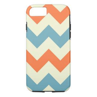 Orange blue chevron zigzag geometric zag pattern iPhone 8/7 case