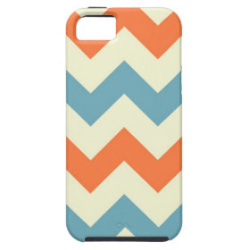 Orange blue chevron zigzag stripes zig zag pattern iPhone 5 covers