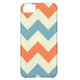 Orange blue chevron zigzag stripes zig zag pattern iPhone 5C cover