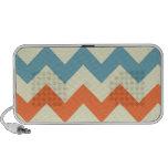 Orange blue chevron zigzag stripes zig zag pattern travel speaker
