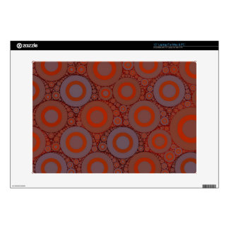 "Orange Blue Circle Abstract 15"" Laptop Skin"