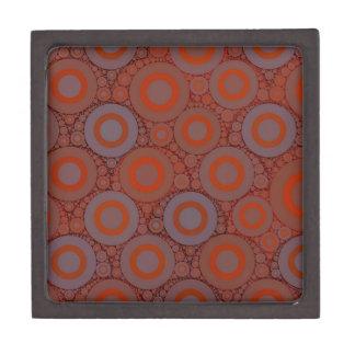 Orange Blue Circle Abstract Gift Box
