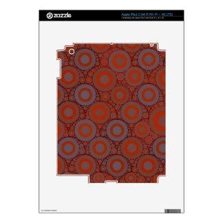 Orange Blue Circle Abstract iPad 3 Decals