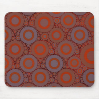 Orange Blue Circle Abstract Mouse Pad