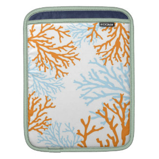 Orange & Blue Coral ipad Sleeve