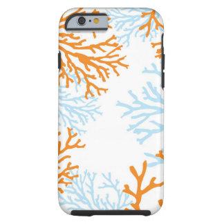 Orange & Blue Coral iPhone 6 case