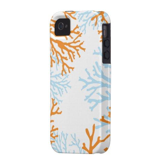 Orange & Blue Coral iphone case