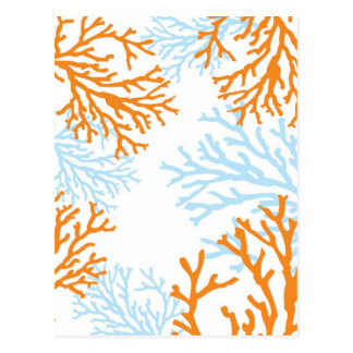 Orange & Blue Coral postcards