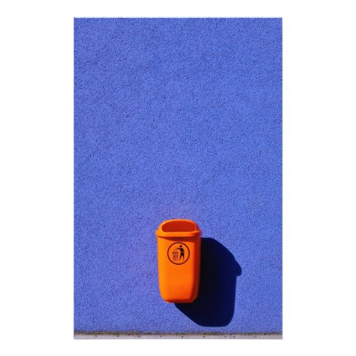 Orange-Blue Eco Line Stationery