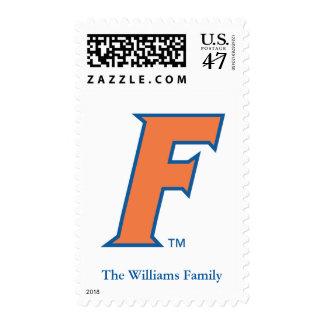 Orange & Blue Florida F Logo 2 Postage
