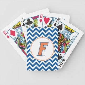 Orange & Blue Florida F Logo Bicycle Playing Cards