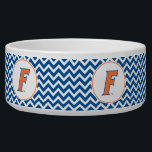 """Orange &amp; Blue Florida F Logo Bowl<br><div class=""""desc"""">Zazzle offers the most exciting and unique gear for the ultimate Florida Gator fan! All of our products are officially licensed and customizable, which makes them perfect for students, alumni, family, fans, and faculty. Whether you are gearing up for tailgating, hosting a party for a Florida fan, or decorating your...</div>"""