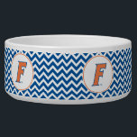 "Orange & Blue Florida F Logo Bowl<br><div class=""desc"">Zazzle offers the most exciting and unique gear for the ultimate Florida Gator fan! All of our products are officially licensed and customizable, which makes them perfect for students, alumni, family, fans, and faculty. Whether you are gearing up for tailgating, hosting a party for a Florida fan, or decorating your...</div>"