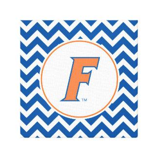 Orange & Blue Florida F Logo Canvas Prints