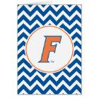 Orange & Blue Florida F Logo Card