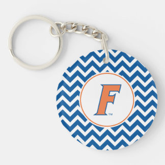 Orange & Blue Florida F Logo Keychain