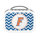 Orange & Blue Florida F Logo Lunchbox
