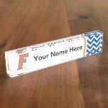 Orange & Blue Florida F Logo Nameplates