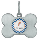 Orange & Blue Florida F Logo Pet ID Tag