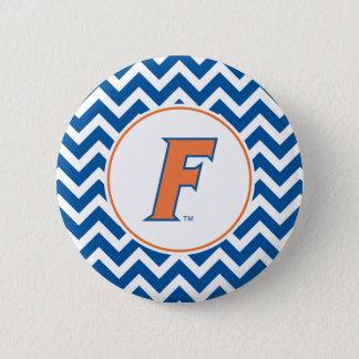 Orange & Blue Florida F Logo Pinback Button